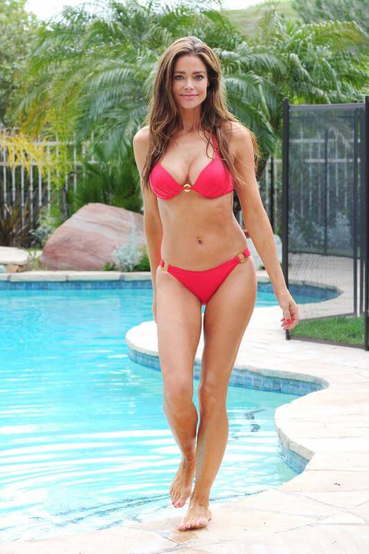 Denise richards Hot in Red Bikini