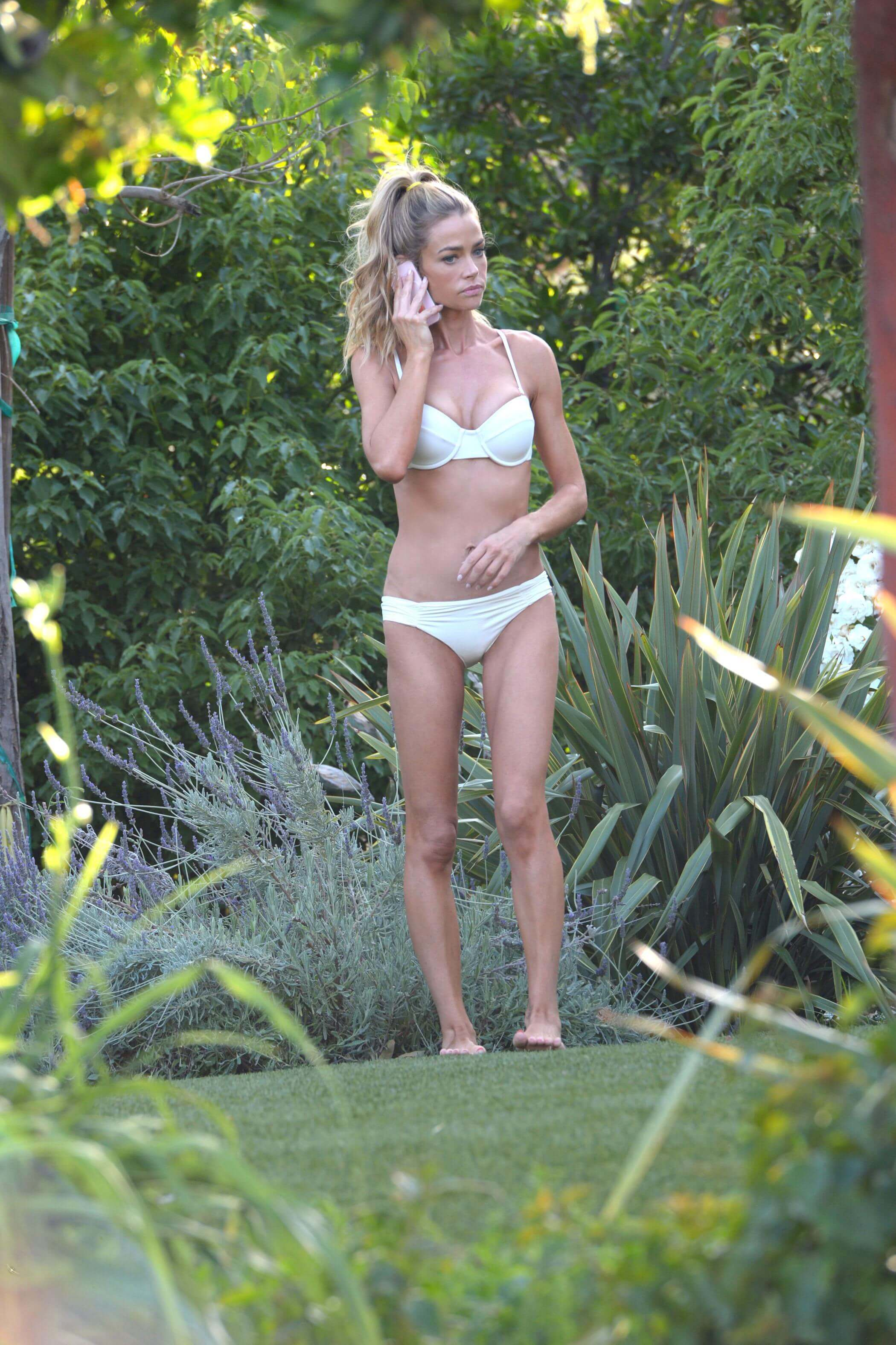 Denise richards Hot in White Bikini