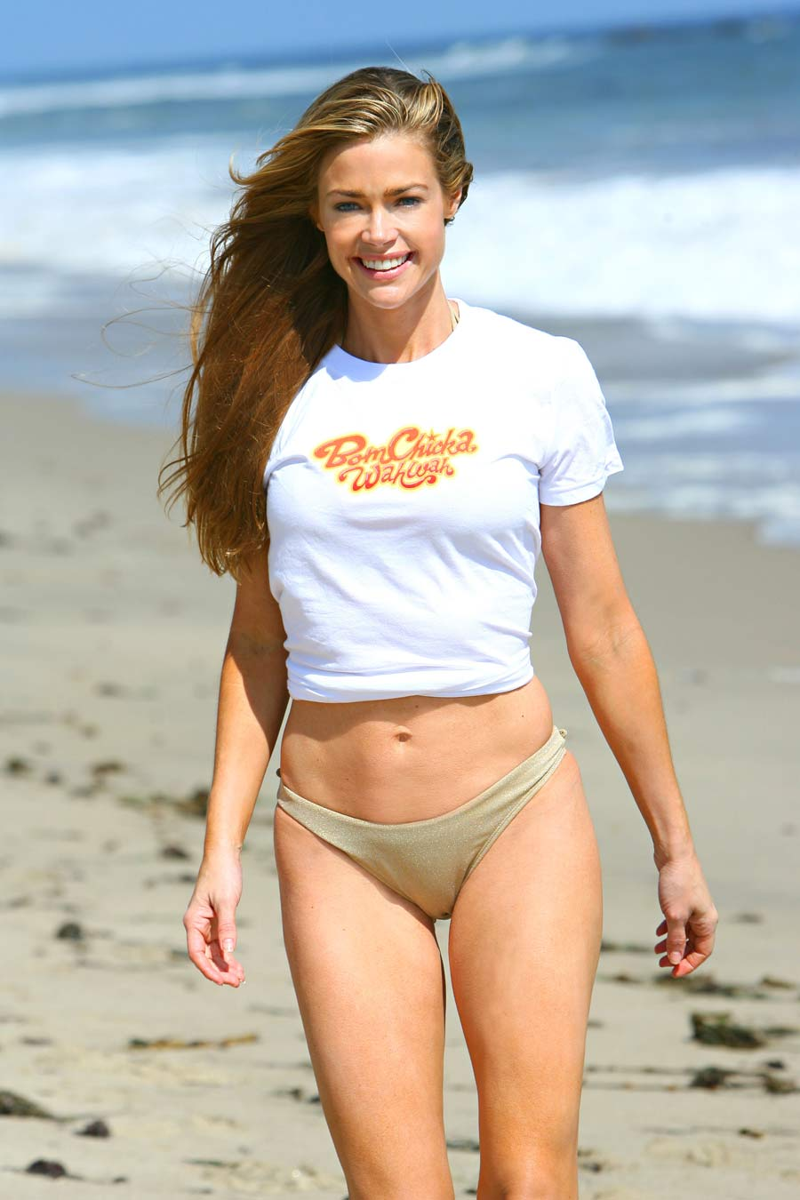 Denise richards on Beach