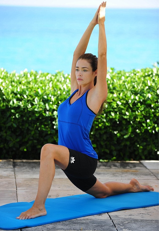 Denise richards on Yoga