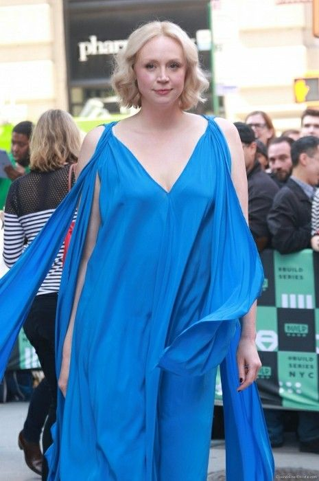 Gwendoline Christie Hot in Blue