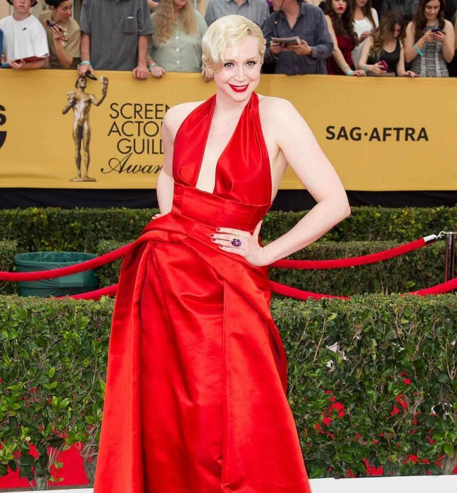 Gwendoline Christie Hot in Red Dress