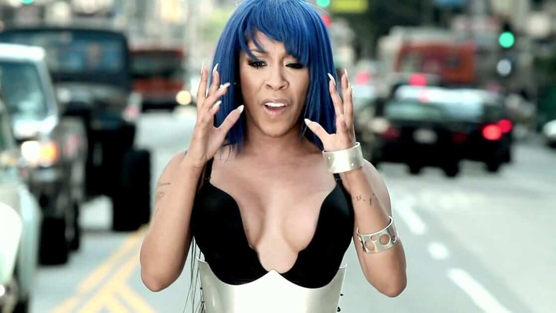 K. Michelle hot cleavage