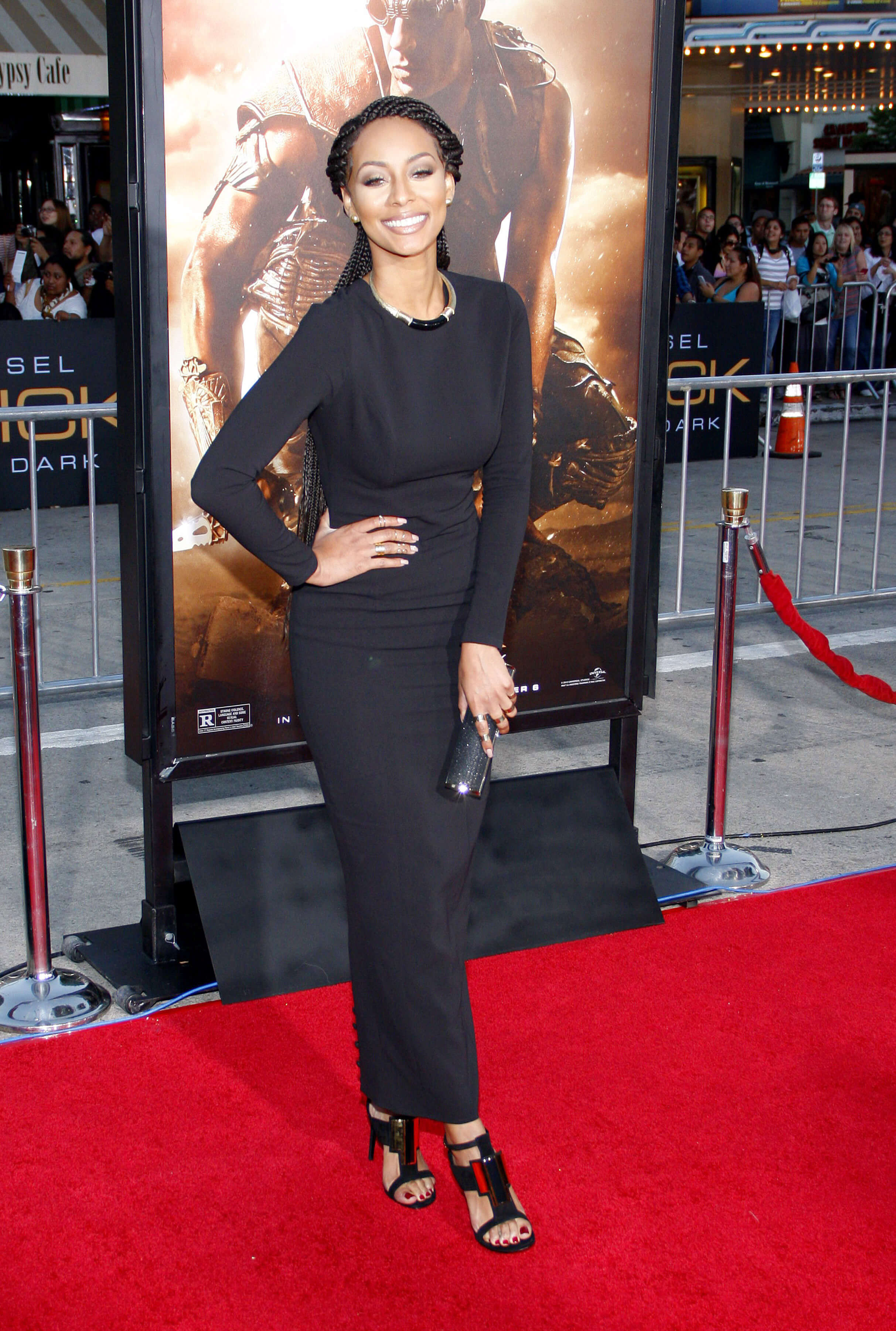 Keri Hilson long black dress pic