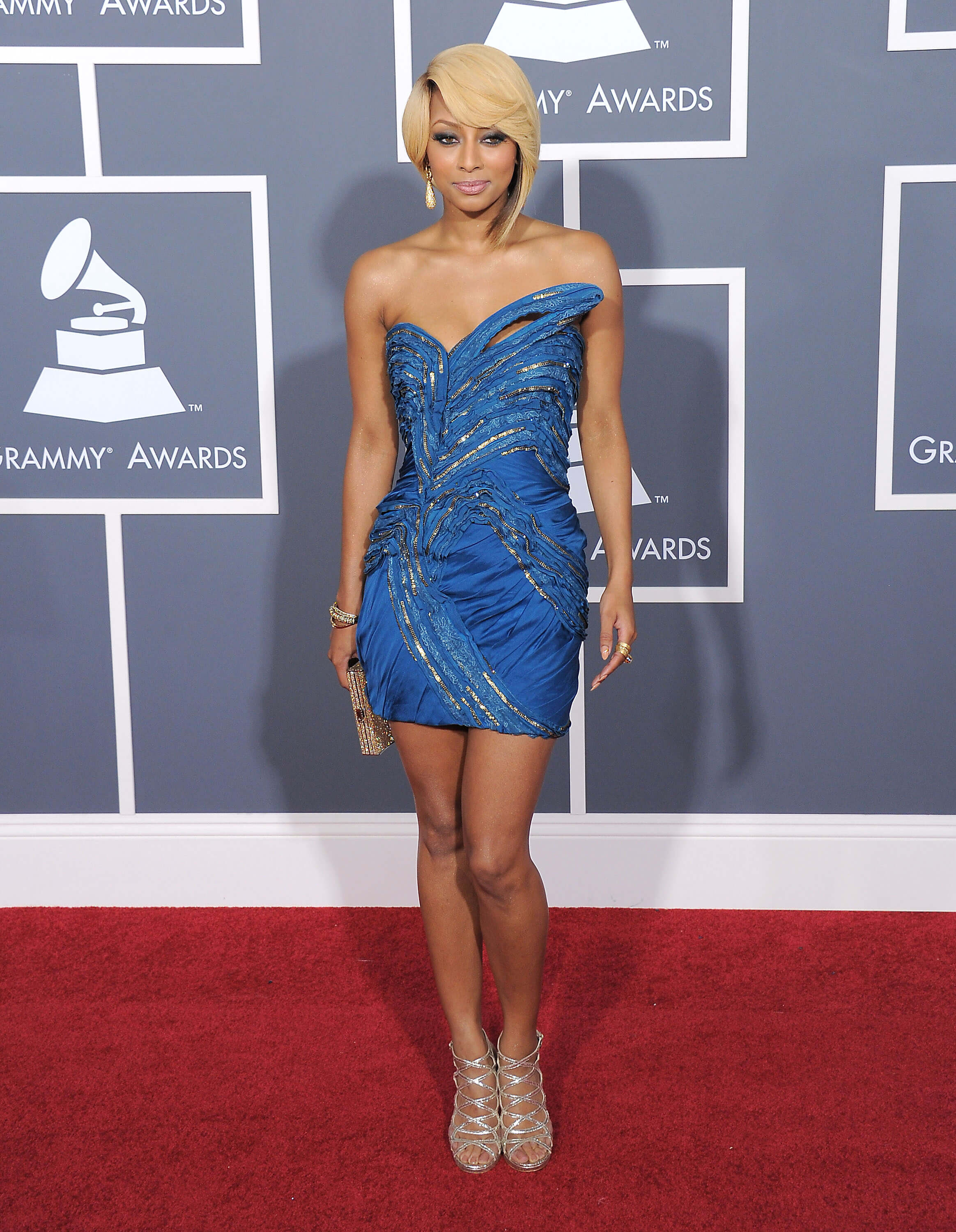 Keri Hilson sexy blue dress