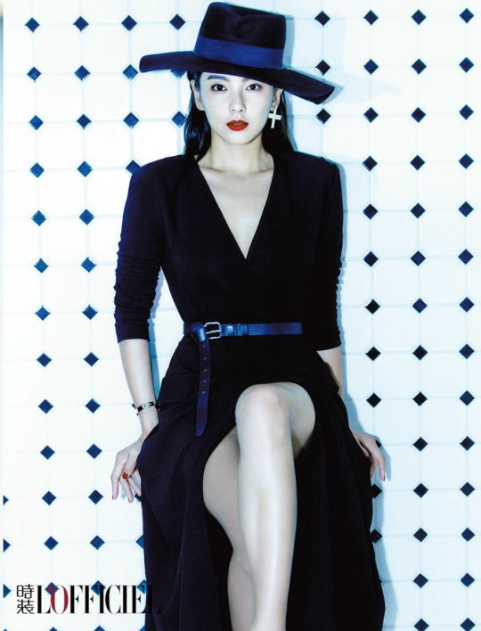 Kitty Zhang Hot in Hat
