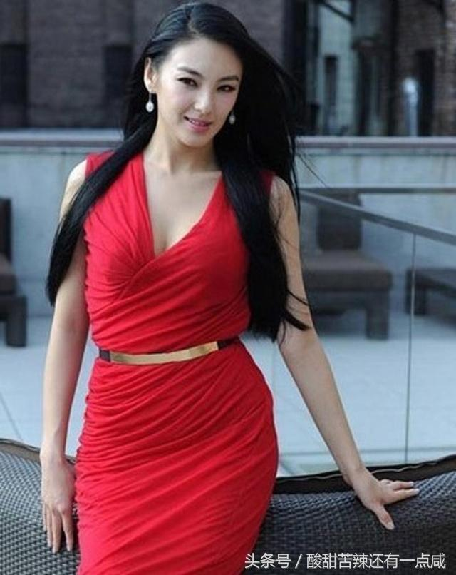 Kitty Zhang Hot in Red Dress