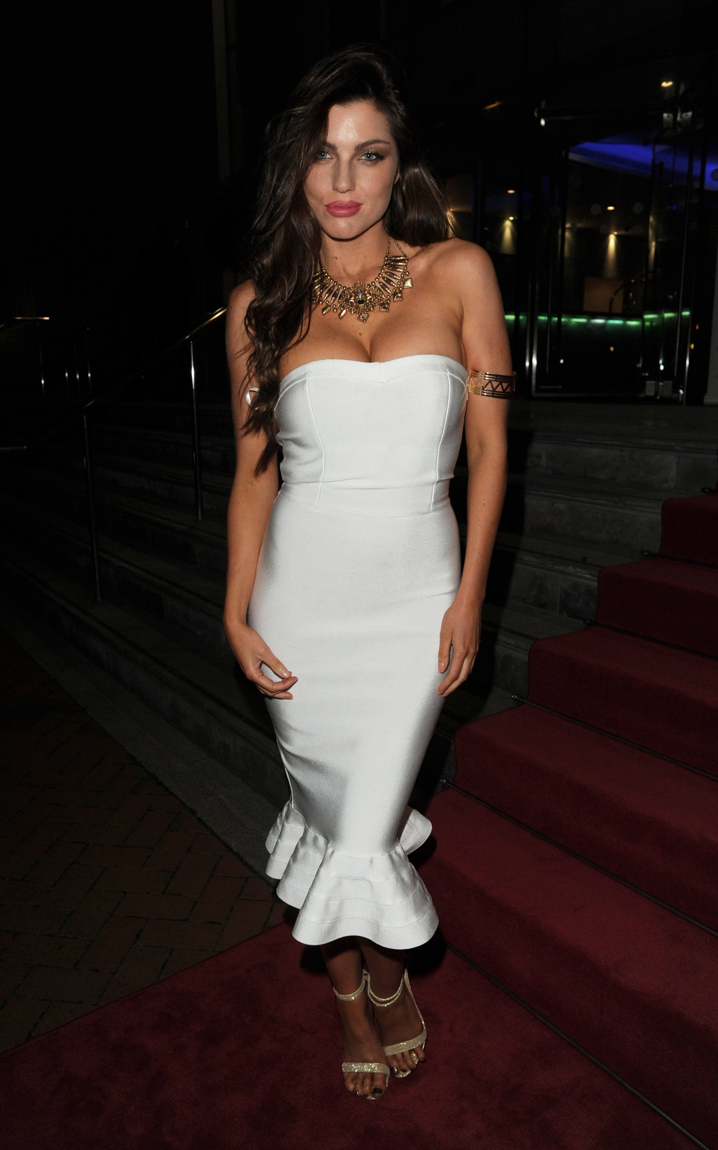 LOUISE CLIFFE hot white dress pic