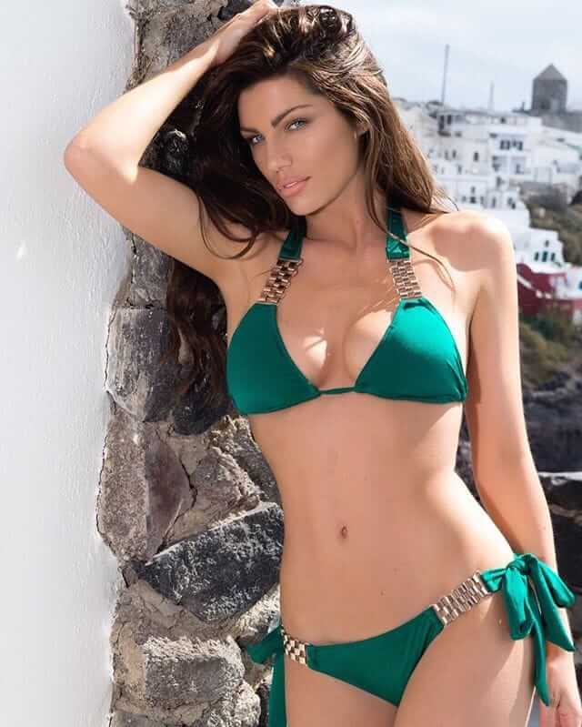 LOUISE CLIFFE sexy green bikini