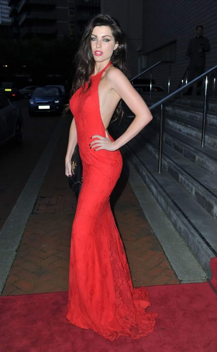 LOUISE CLIFFE sexy red dress