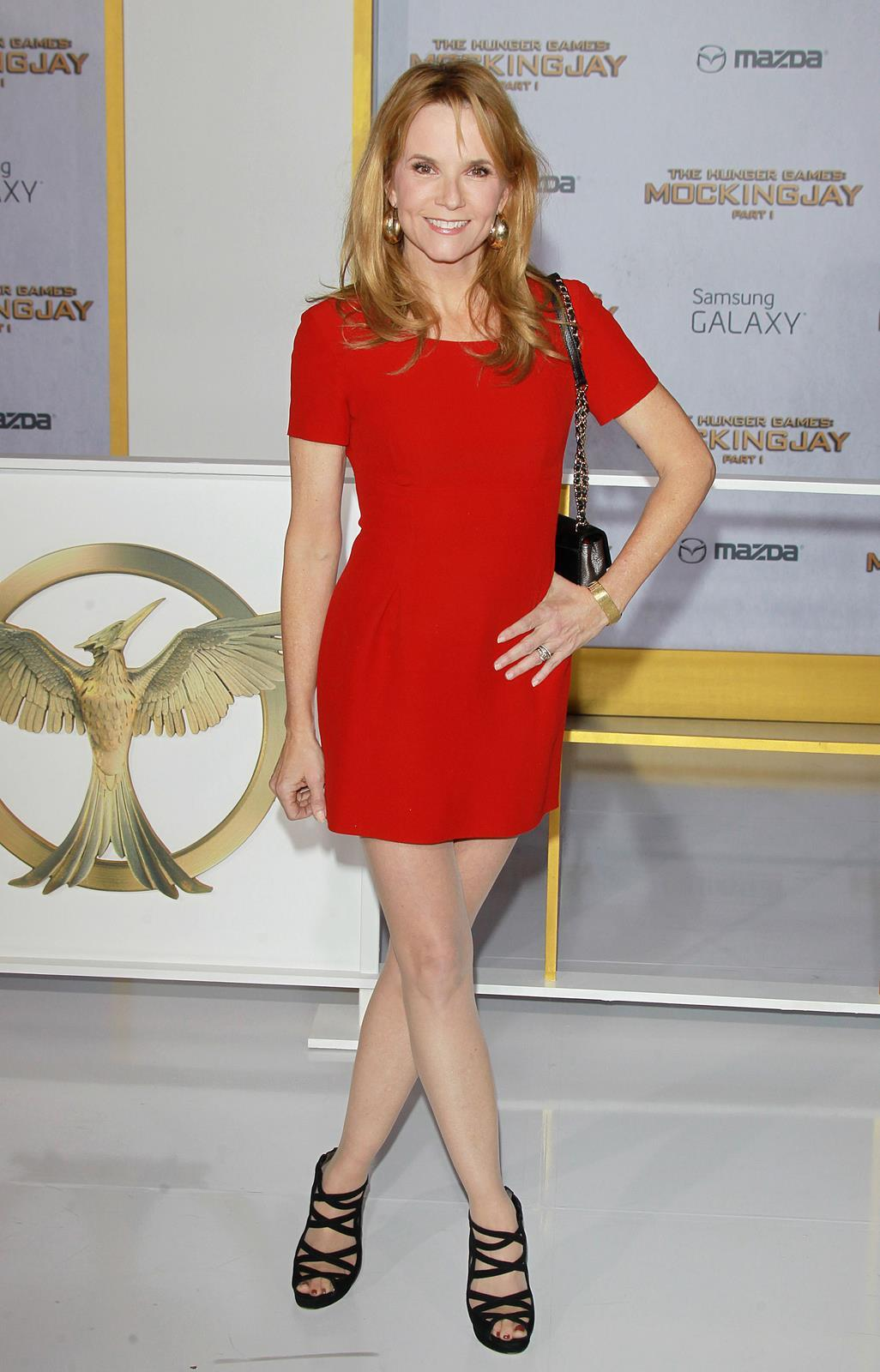 Lea Thompson Hot in REd Dress