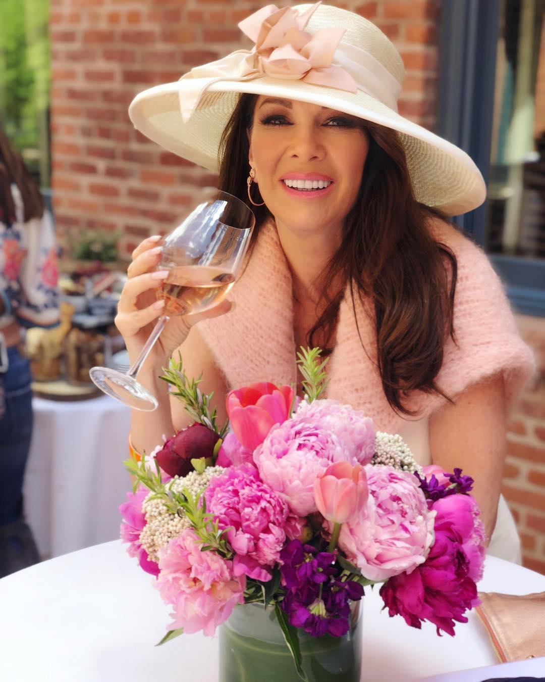 Lisa Vanderpump Drinking Wine
