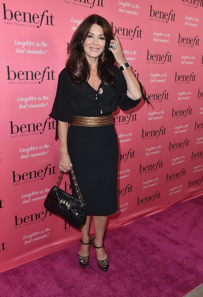 Lisa Vanderpump Hot in Black Dress