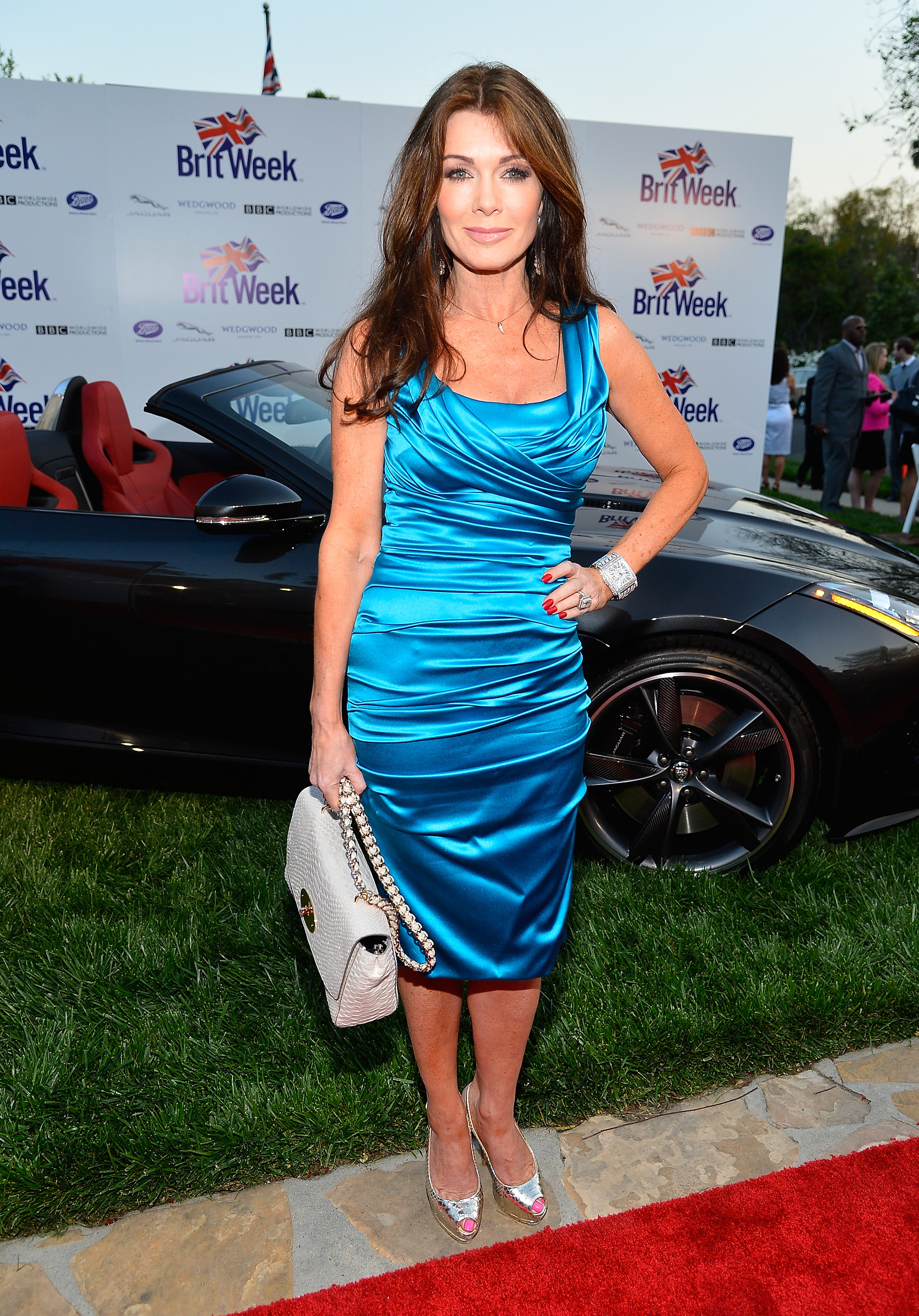 Lisa Vanderpump Hot in Blue Dress