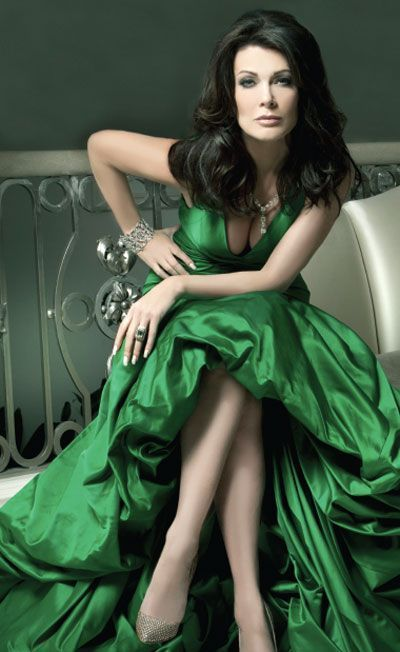 Lisa Vanderpump Hot in Green Dress