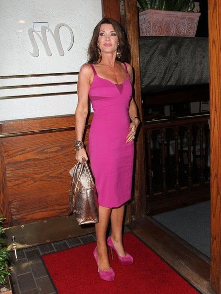 Lisa Vanderpump Hot in Pink Dress