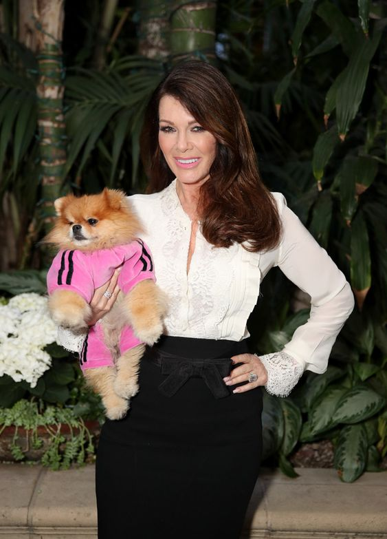 Lisa Vanderpump with Small Puppy