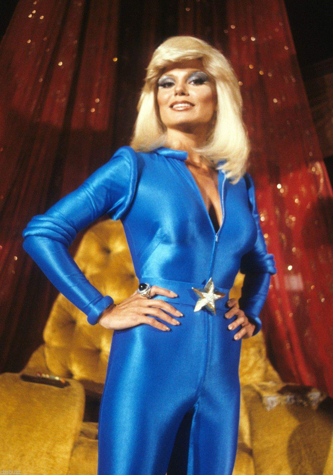 Loni Anderson Hot in Superman Dress