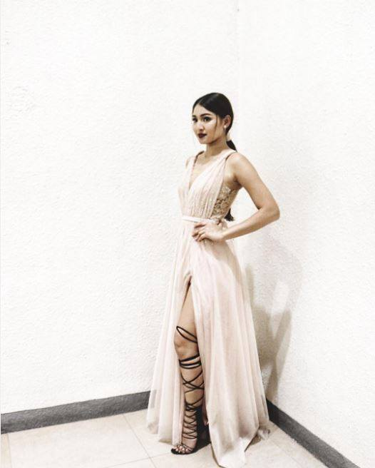 Nadine Lustre SEXY LONG DRESS PIC