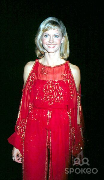 Olivia Newton Hot in Red Dress