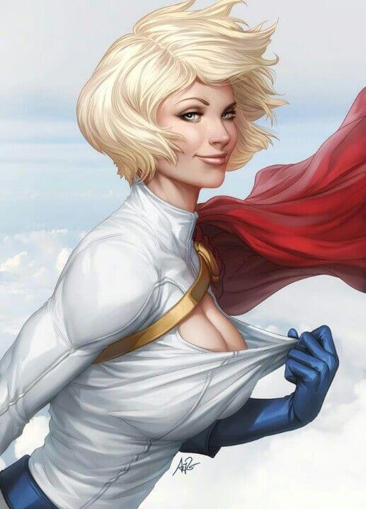 Power Girl cleavages hot pic