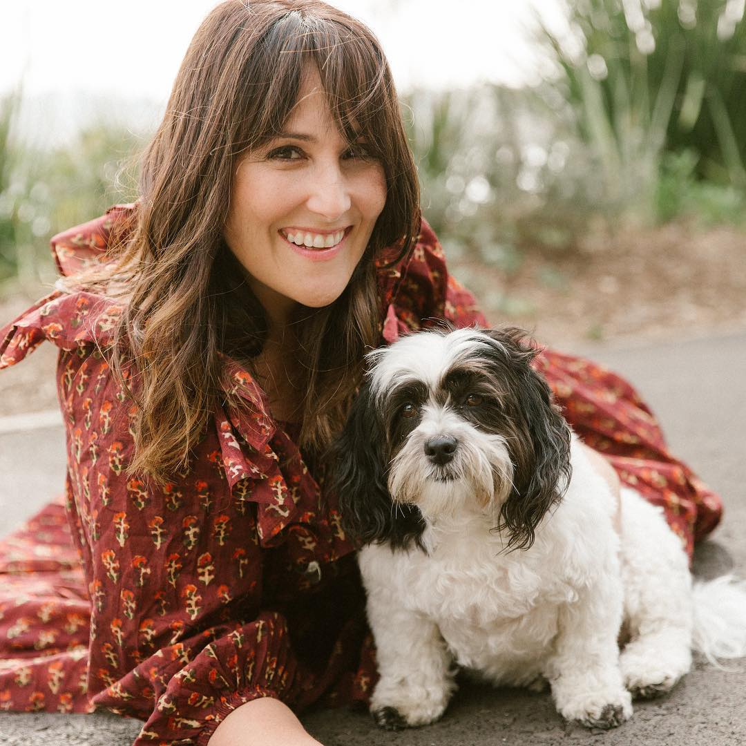 Ricki Lake with Puppy