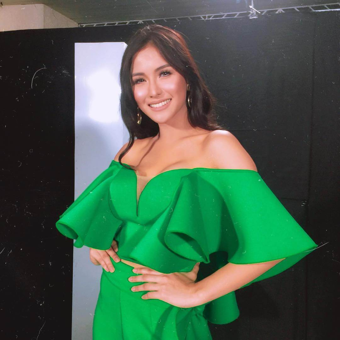 Sanya Lopez SEXY GREEN DRESS