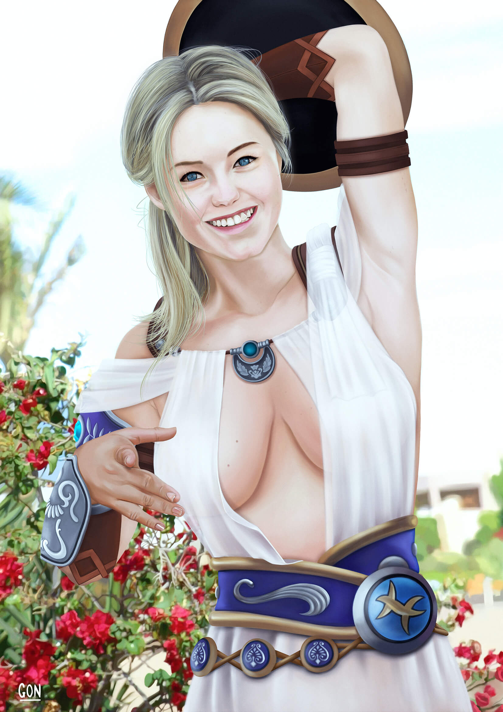 Sophitia hot cleavage pic