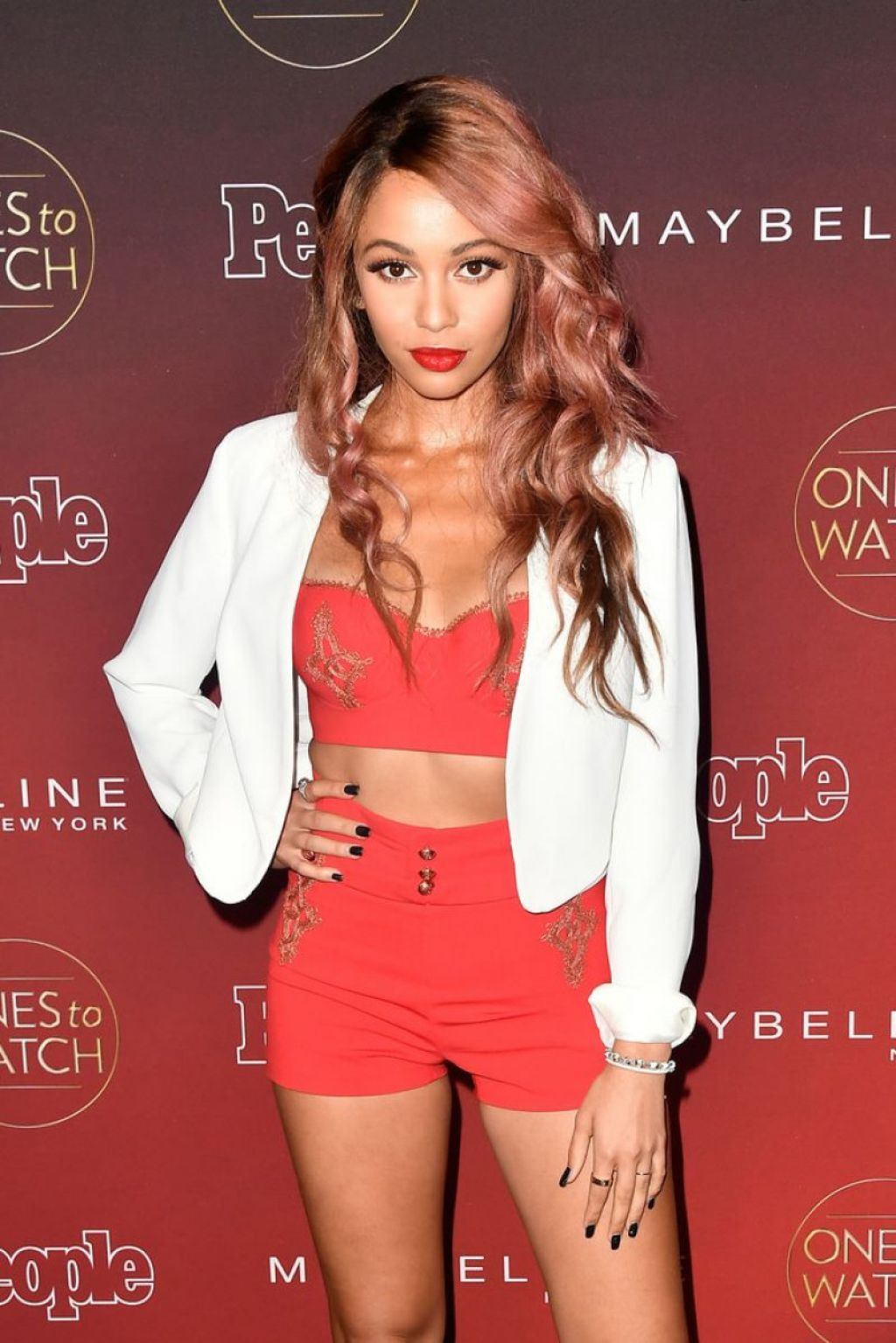 Vanessa Morgan Hot in REd Dress