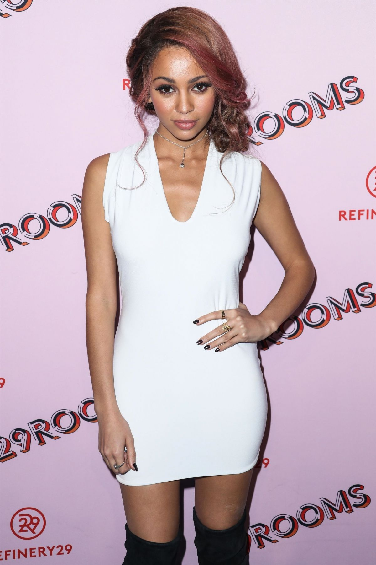 Vanessa Morgan Hot in Short Dress