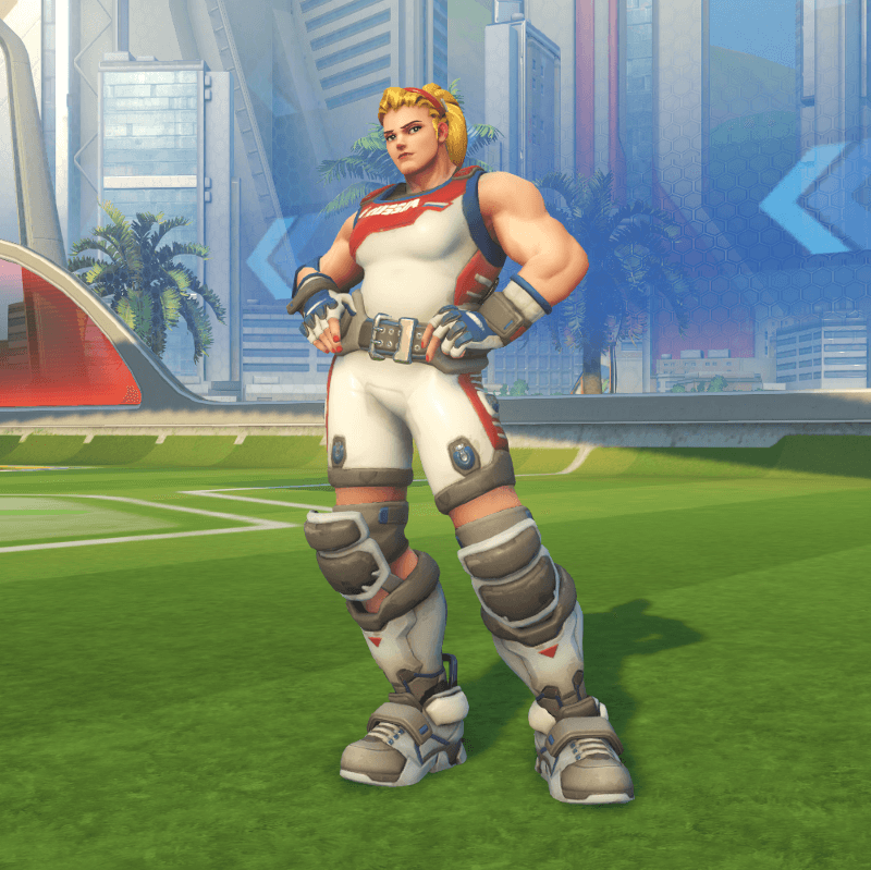 Zarya Overwatch blonde