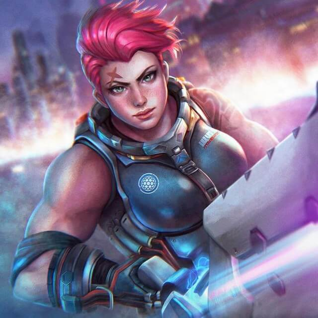 Zarya Overwatch gun play