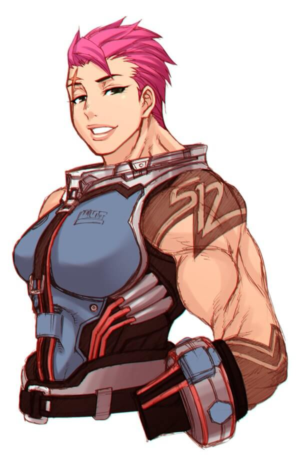 Zarya Overwatch hot picture