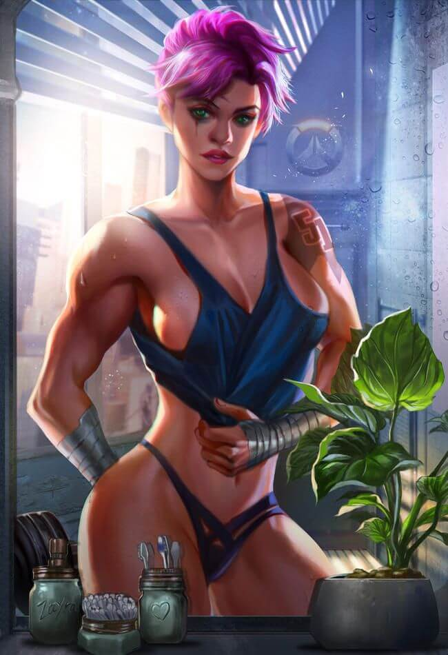 Zarya Overwatch sexy photo