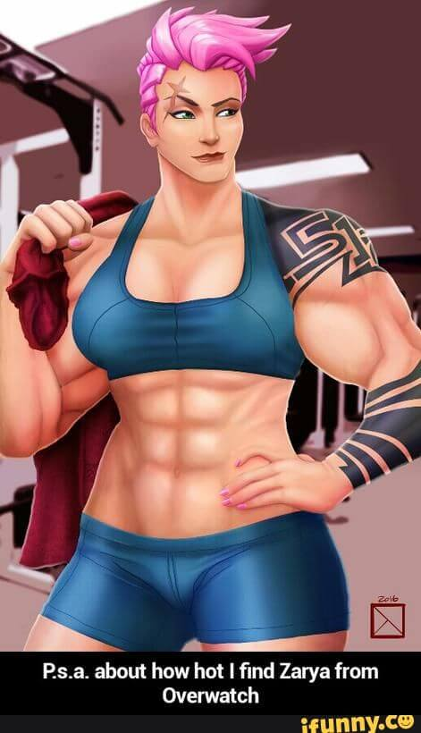 Zarya Overwatch sexy pictures