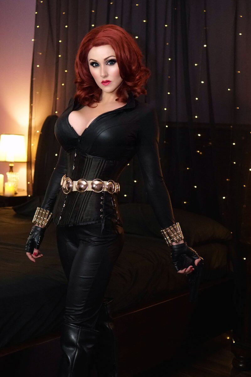black widow sexy cleavages