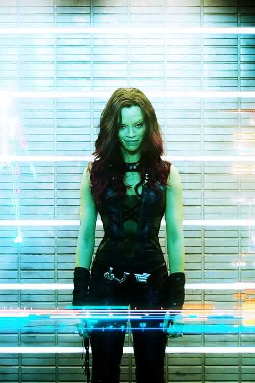 gamora hot cleavages picture