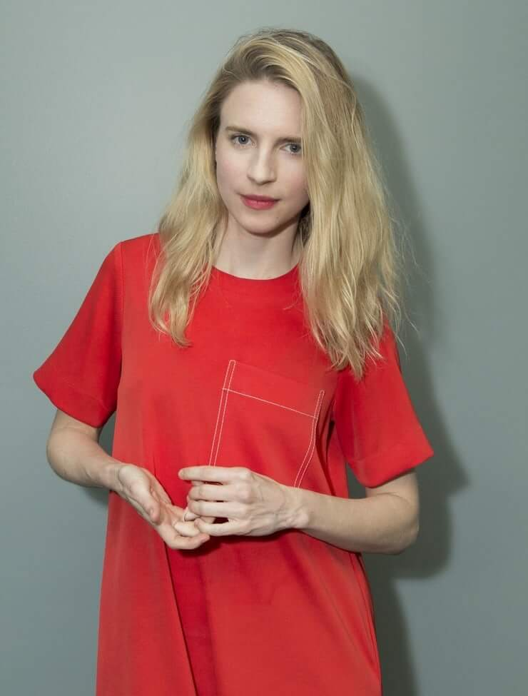 Brit Marling hot red dress