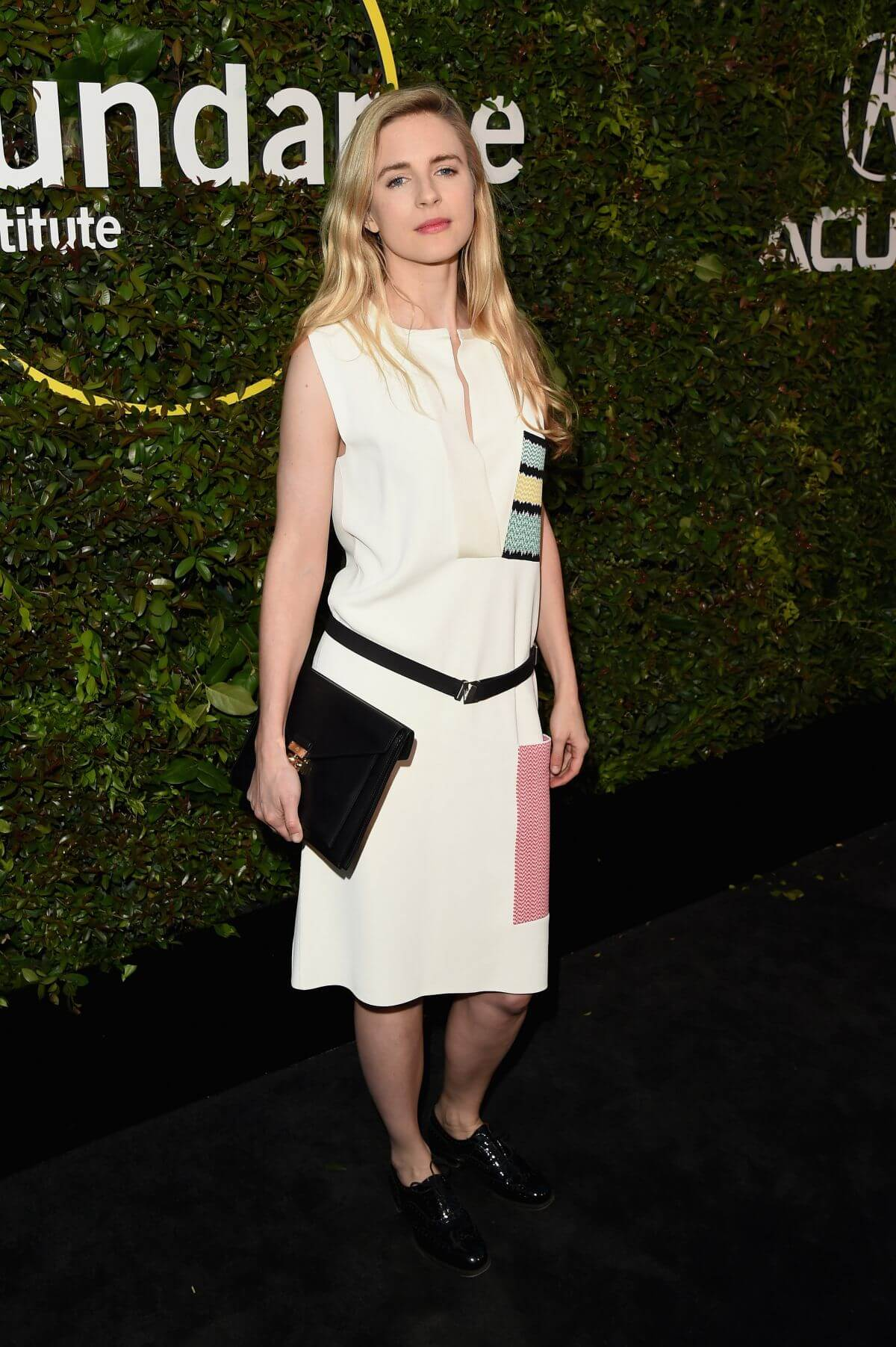 Brit Marling hot white dress
