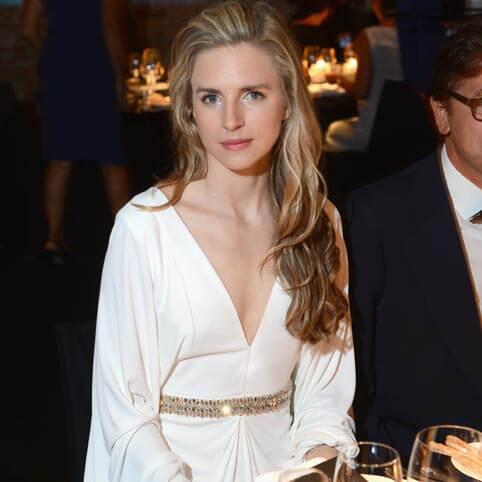 Brit Marling sexy white dress