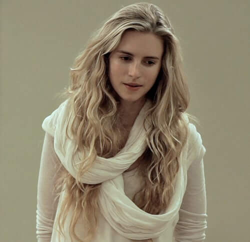 Brit Marling white dress pic