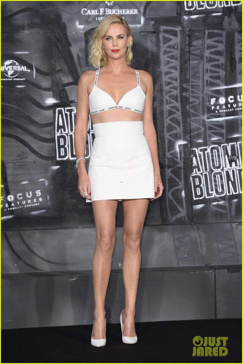 Charlize Theron long legs pic