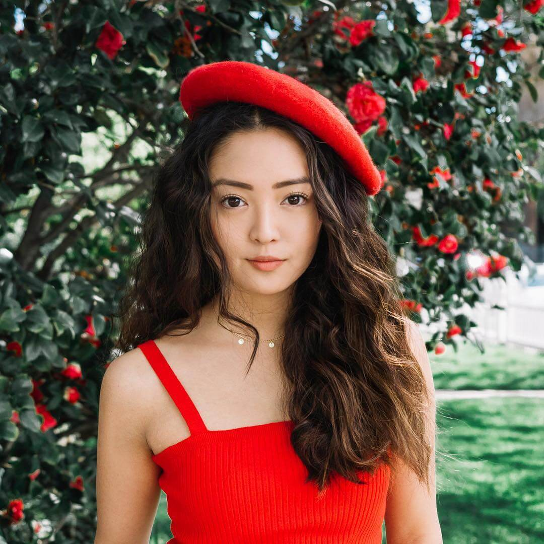Chelsea Zhang sexy red dress