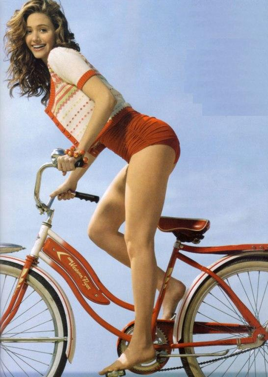 Emmy Rossum sexy cycle photoshoot