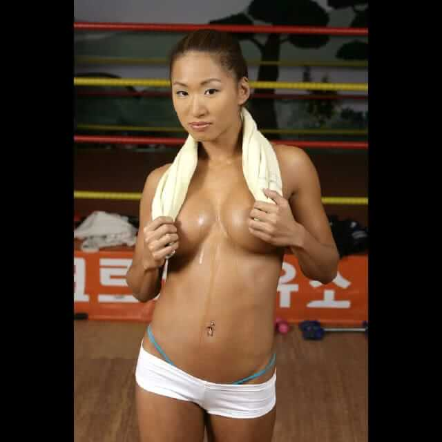 Gail Kim sexy topless pic (2)