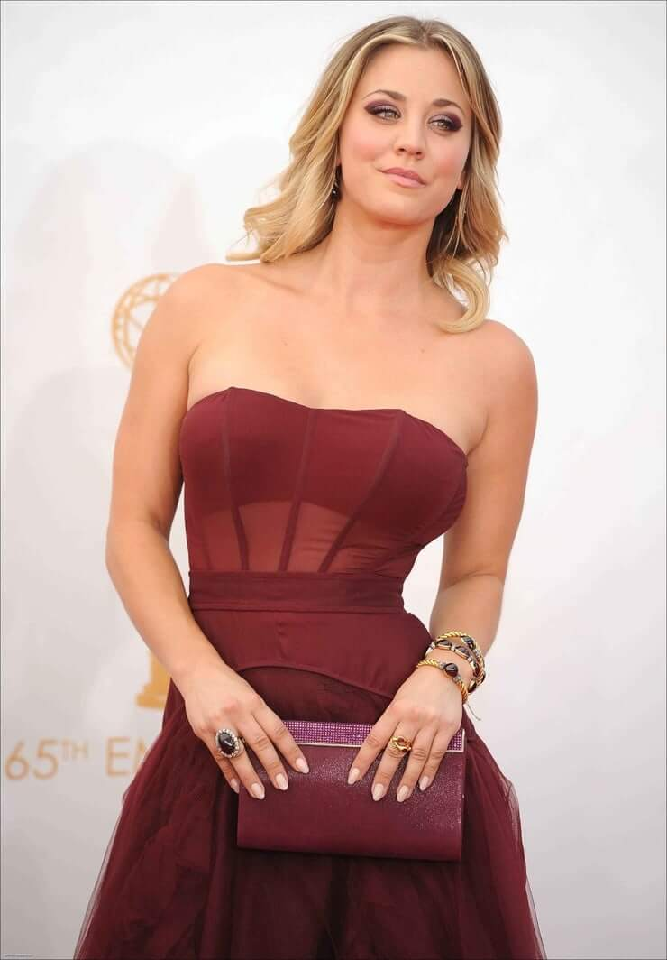Kaley Cuoco sexy dress pic
