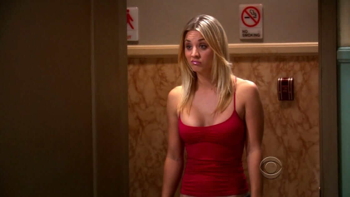 Kaley Cuoco sexy red dress