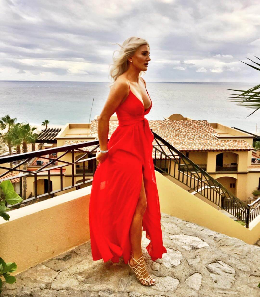 Kaylyn Kyle sexy red dress