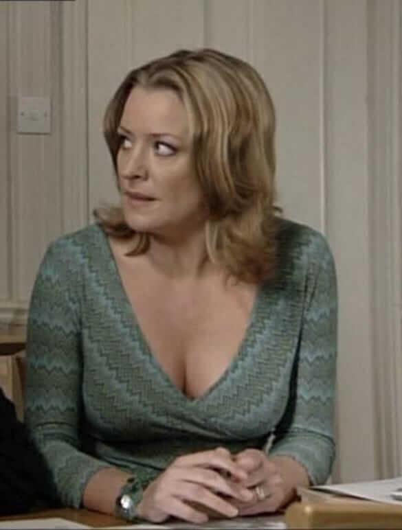 Laurie Brett hot cleavage