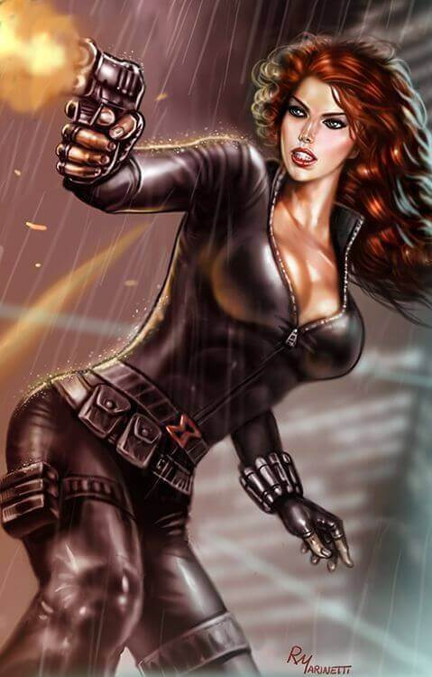 Natasha Romanoff cleavage photo